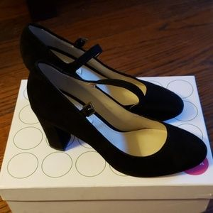 Boden Black Suede Mary Jane
